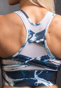Spin Sports Bra | Blurred Marble