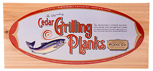 "Legendary Cedar Grilling Planks - 4 Pack - 3/8"" THICK - Made in OREGON - 5.5"" x 12"""