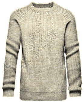 Saddle Crew Sweater (FLAX)