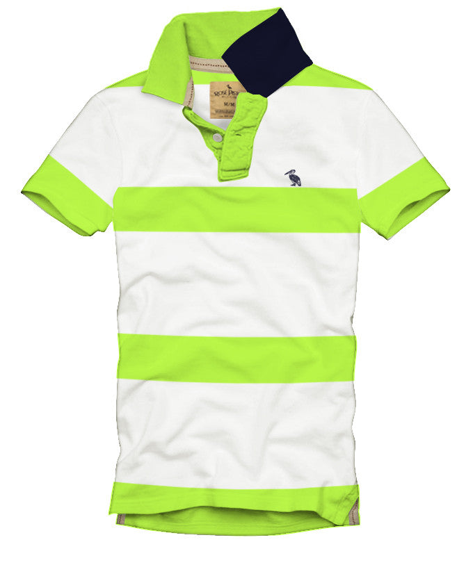 Geary Bold Striped Polo