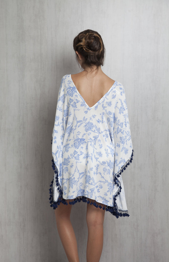 Blue Floral Tunic