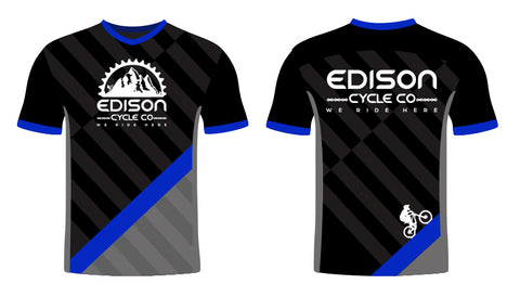 Black and Blue Edison Jersey