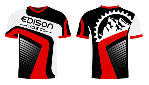 Black and Red Edison Jersey