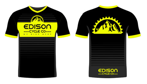 Black and Yellow Edison Jersey