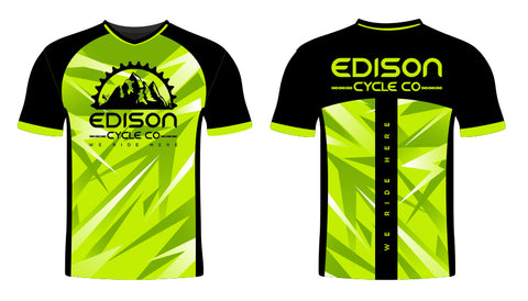 Green and Black Edison Jersey