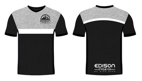 Solid Black and Gray Edison Jersey