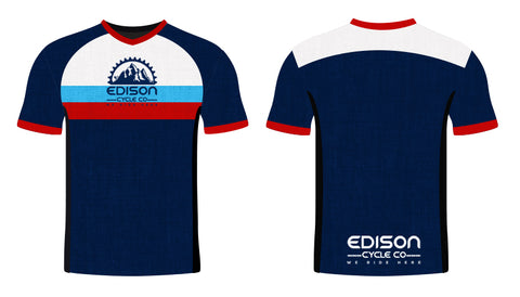 Navy and Red Edison Jersey