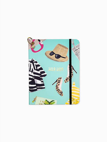 2018/2019 Kate Spade medium size Things We Love weekly planner. Sticker, charm ring with spade.