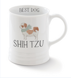 Shih Tzu. Delightful watercolor images feature the best in breed of the pups in this collection. Ceramic mugs hold approximately 12 liquid ounces.