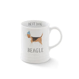 Beagle. Delightful watercolor images feature the best in breed of the pups in this collection. Ceramic mugs hold approximately 12 liquid ounces.