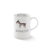 Schanuzer. Delightful watercolor images feature the best in breed of the pups in this collection. Ceramic mugs hold approximately 12 liquid ounces.