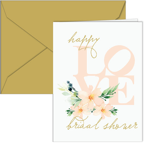 Happy LOVE Bridal Shower Card