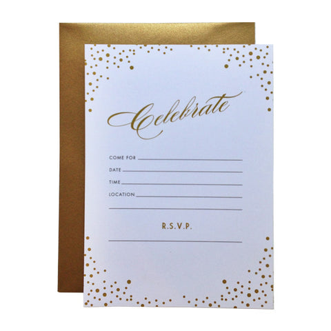 Celebrate Fill-in Invitations