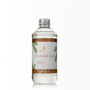 Refresh your Frasier Fir Reed Diffuser with this convenient refill. A unique home fragrance option that fills your home with crisp, just-cut forest fragrance of Frasier Fir. This best-selling favorite is a must-have to make any house a home this season.