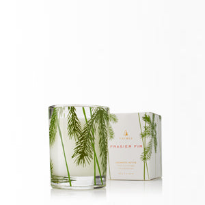 Mountain fresh and glowing, this scented Frasier Fir Votive Candle enhances any decor or makes an elegant hostess gift. Fills your home with crisp, just-cut forest fragrance that evokes Christmas memories. The non-metal wick provides a clean, pure burn time of approximately 15 hours.  Aromatic Candle 2 oz