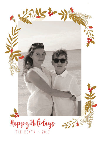 Digital holiday photo cards designed by Paper on Pine. Choose your ink color, and quantity. Send us your photo and wording and you'll have the perfect holiday card to send to your friends and family this Holiday Season!