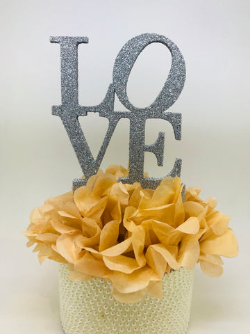 Love Sign Cake Topper
