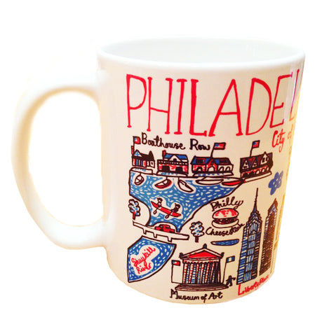 This mug features illustrations of everything that's great in Philadelphia. From City Hall to the LOVE sign