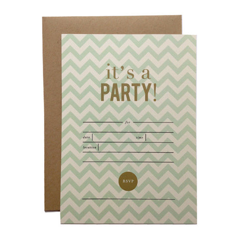 It's a Party! Fill-in Invitations