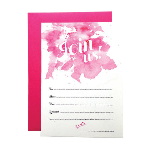 Join Us! Watercolor Fill-in Invitations