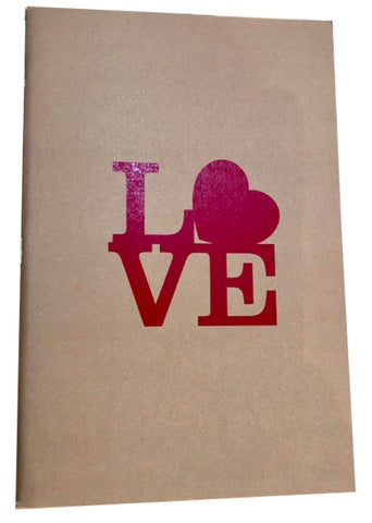 Love Kraft Notebook This perfectly sized notebook is a great as a gift or for personal notes and journaling.