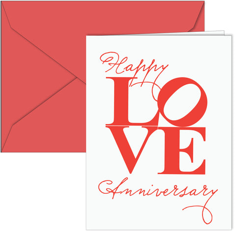 LOVE Happy Anniversary Card
