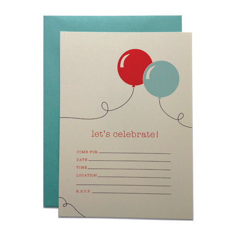 Let's Celebrate! Fill-in Invitations