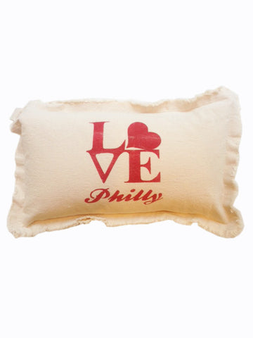 Love Philly Heart Pillow