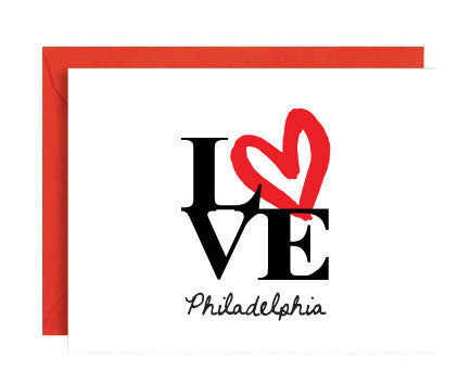 Philadelphia Love Sign Folded Note