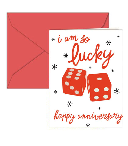 Lucky Dice Anniversary Card