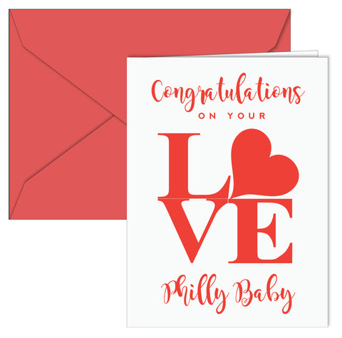 LOVE Baby Congrats Card