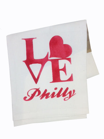 100% cotton tea towels designed by Paper on Pine and printed in the USA. Heart design.