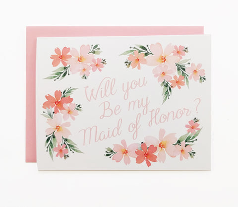 """Will You Be My Maid Of Honor"" Card"