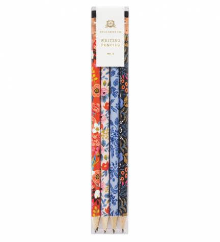 This floral writing pencil set includes a total of 12 pencils, 3 of each design. They are pre-sharpened and ready to use! Writing and sketching is even more enjoyable with these beautiful pencils!