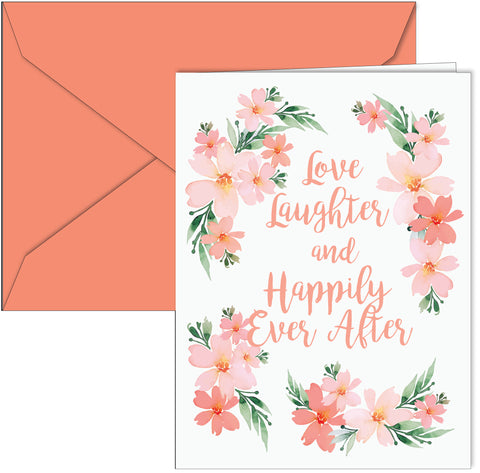 """Love Laughter and Happily Ever After"" Card"