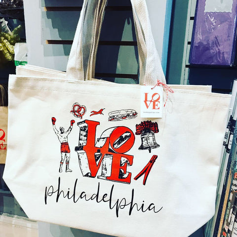 Canvas Tote Bag -Philly Illustrations