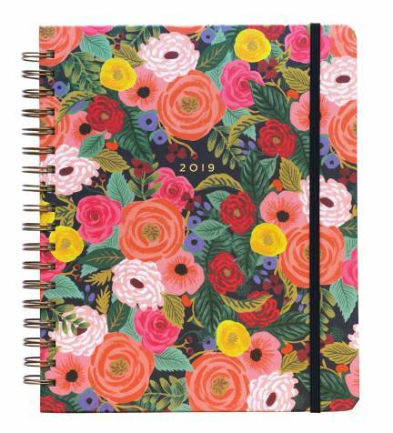 2019 Rifle Paper Co large Juliet Rose floral weekly planner with stickers