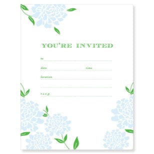 "Paper on Pine ""You're Invited"" (blue)"