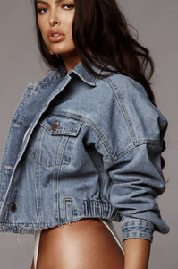 Denim Chic Crop Jacket