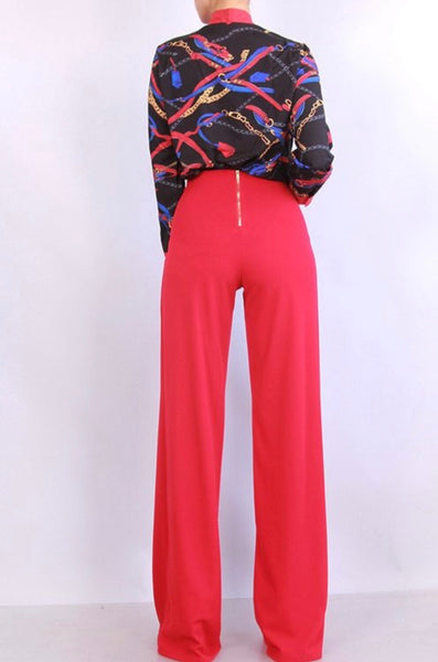 Cherry Red Palzzo Pants