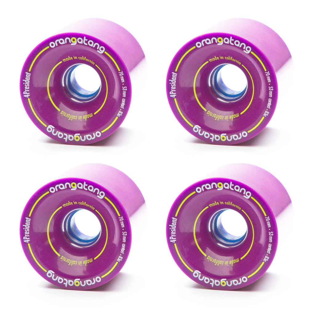 Orangatang 70mm 4President 83a Purple - Performance Longboarding - FREE SHIPPING!