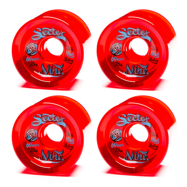 Sector 9 69mm 9-Balls Red - Performance Longboarding - FREE SHIPPING!