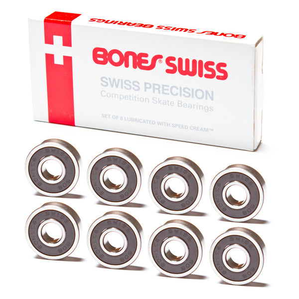 Bones Swiss Original Bearings - Performance Longboarding - FREE SHIPPING!