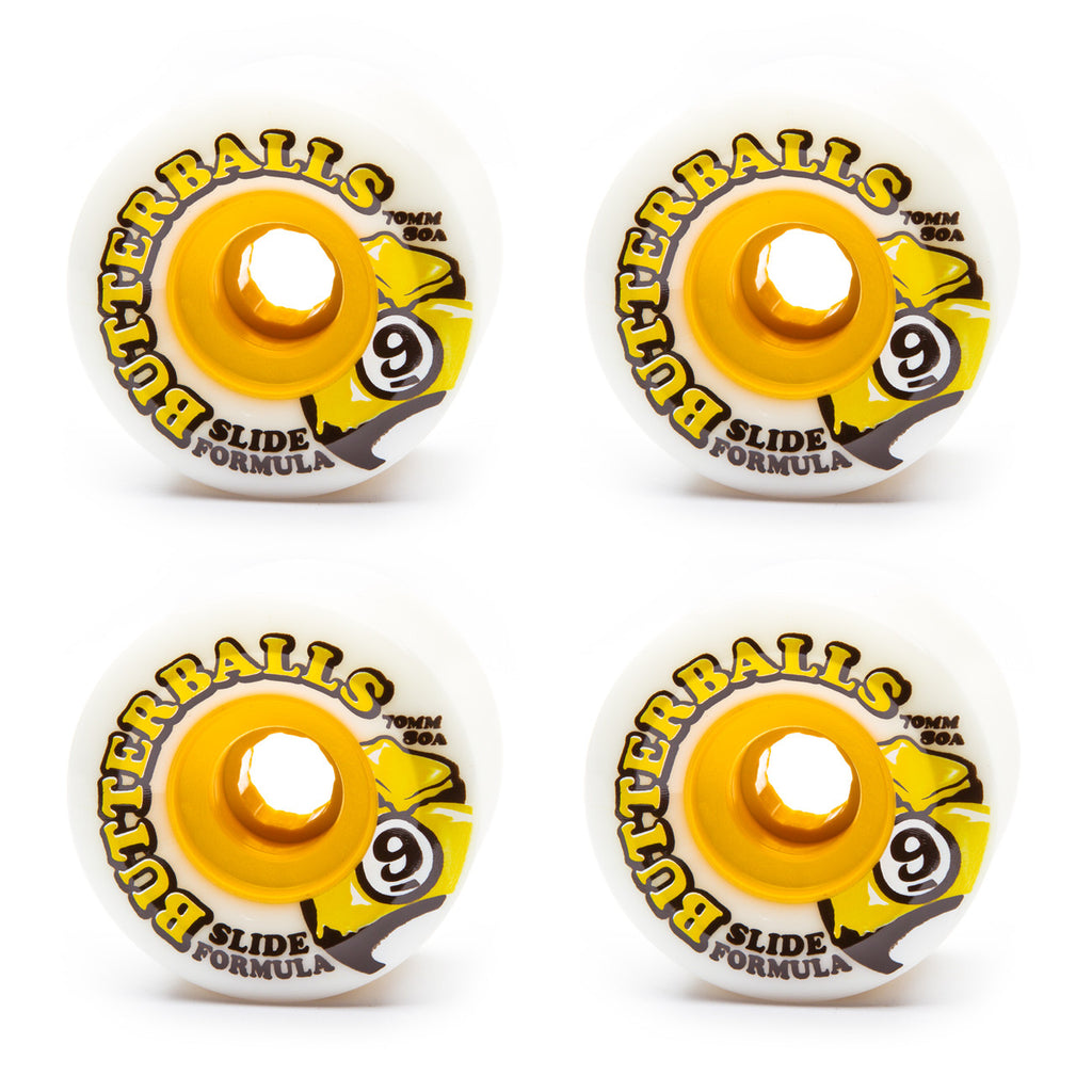 Sector 9 70mm Butterballs 80a White - Performance Longboarding - FREE SHIPPING!