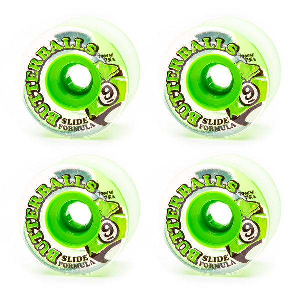 Sector 9 70mm Butterballs 75a Clear - Performance Longboarding - FREE SHIPPING!