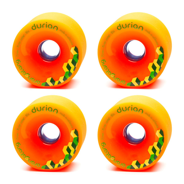 Orangatang 75mm Durian 80a Orange - Performance Longboarding - FREE SHIPPING!