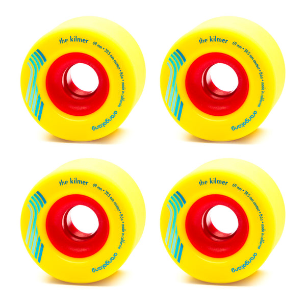 Orangatang 69mm The Kilmer 86a Yellow - Performance Longboarding - FREE SHIPPING!
