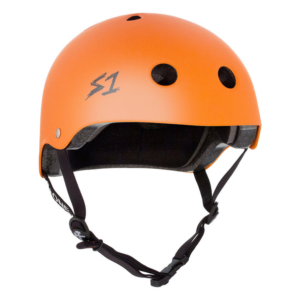 S1 Lifer Helmet Matte Orange - Performance Longboarding - FREE SHIPPING!