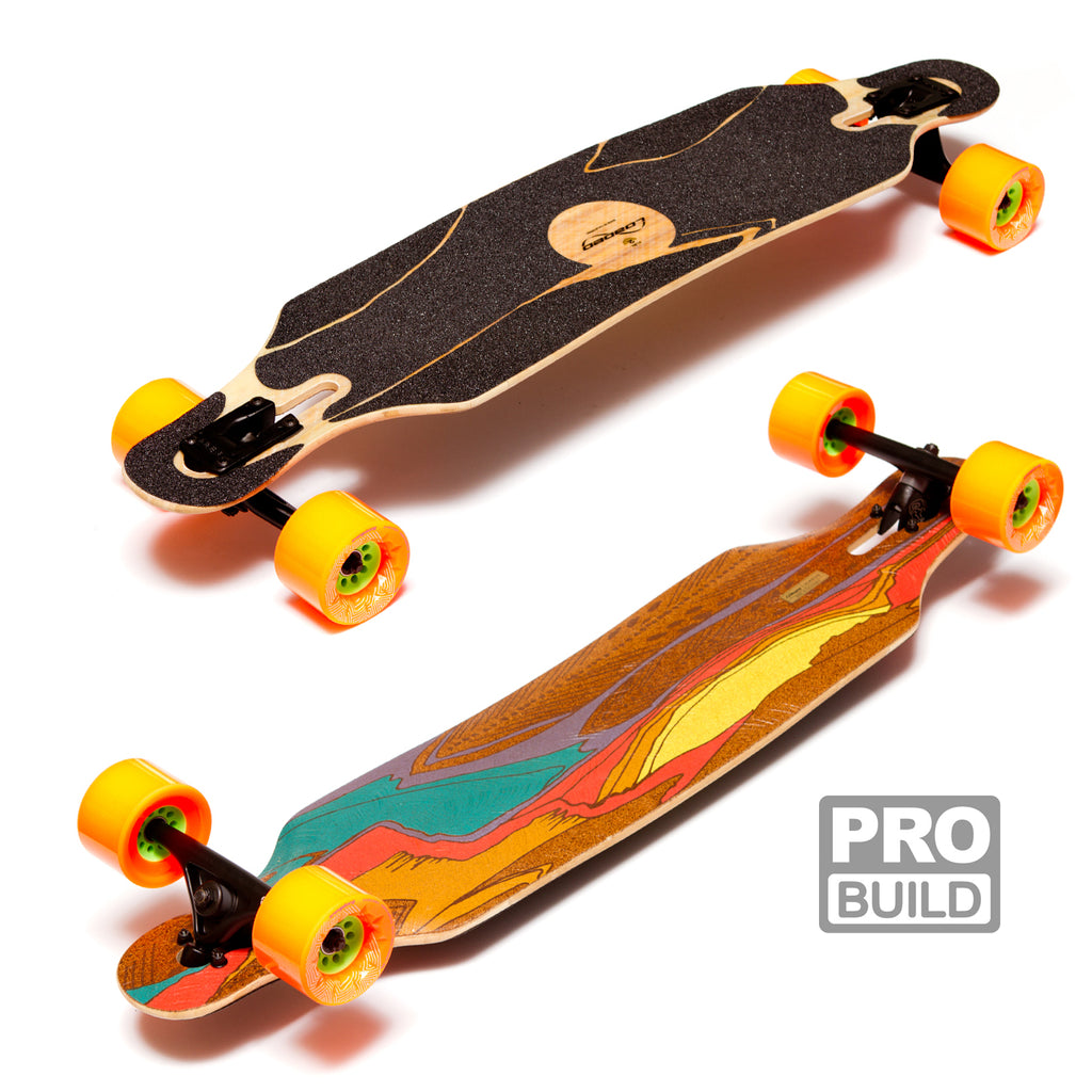 Loaded Icarus Longboard Caguamas Orange Bear Trucks