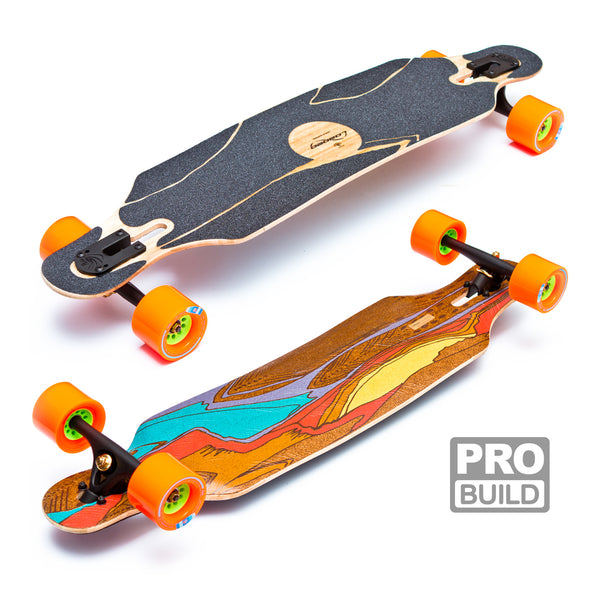 Loaded Icarus Longboard Black Paris Orange Kegels